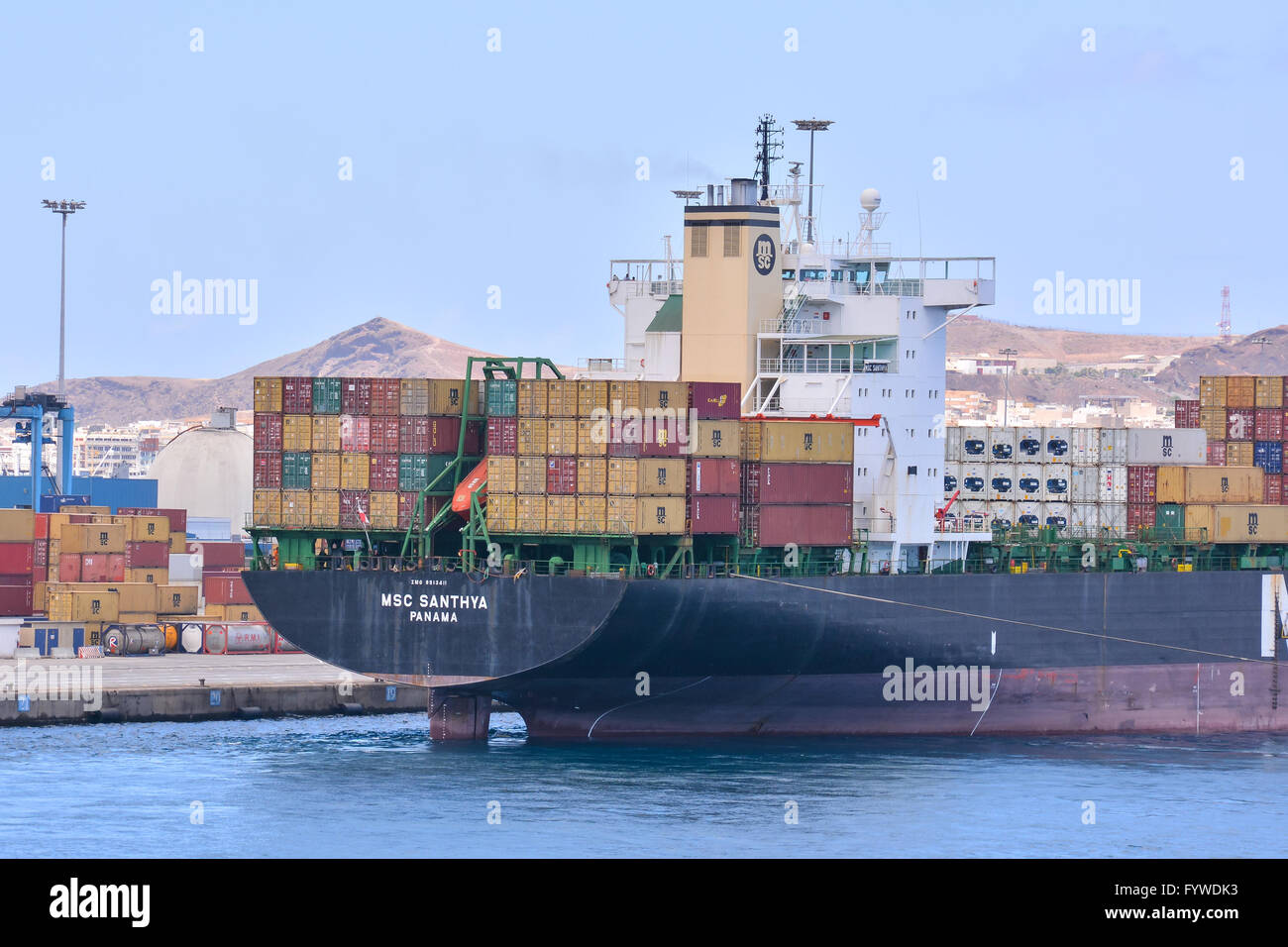 Editorial  Industrial Building in the Port - Stock Image
