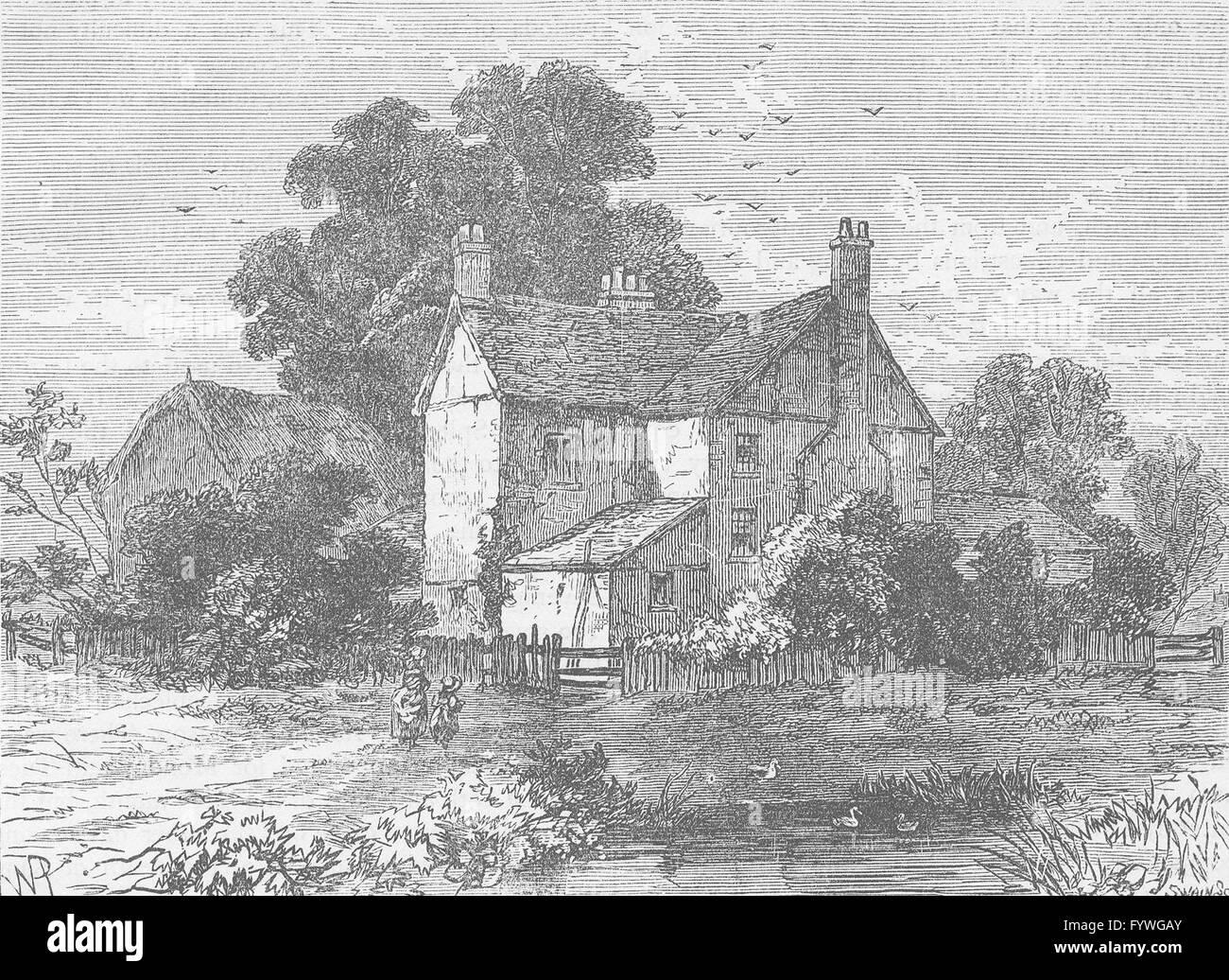 NOTTING HILL: Portobello Farm, 1830. London, antique print c1880 - Stock Image