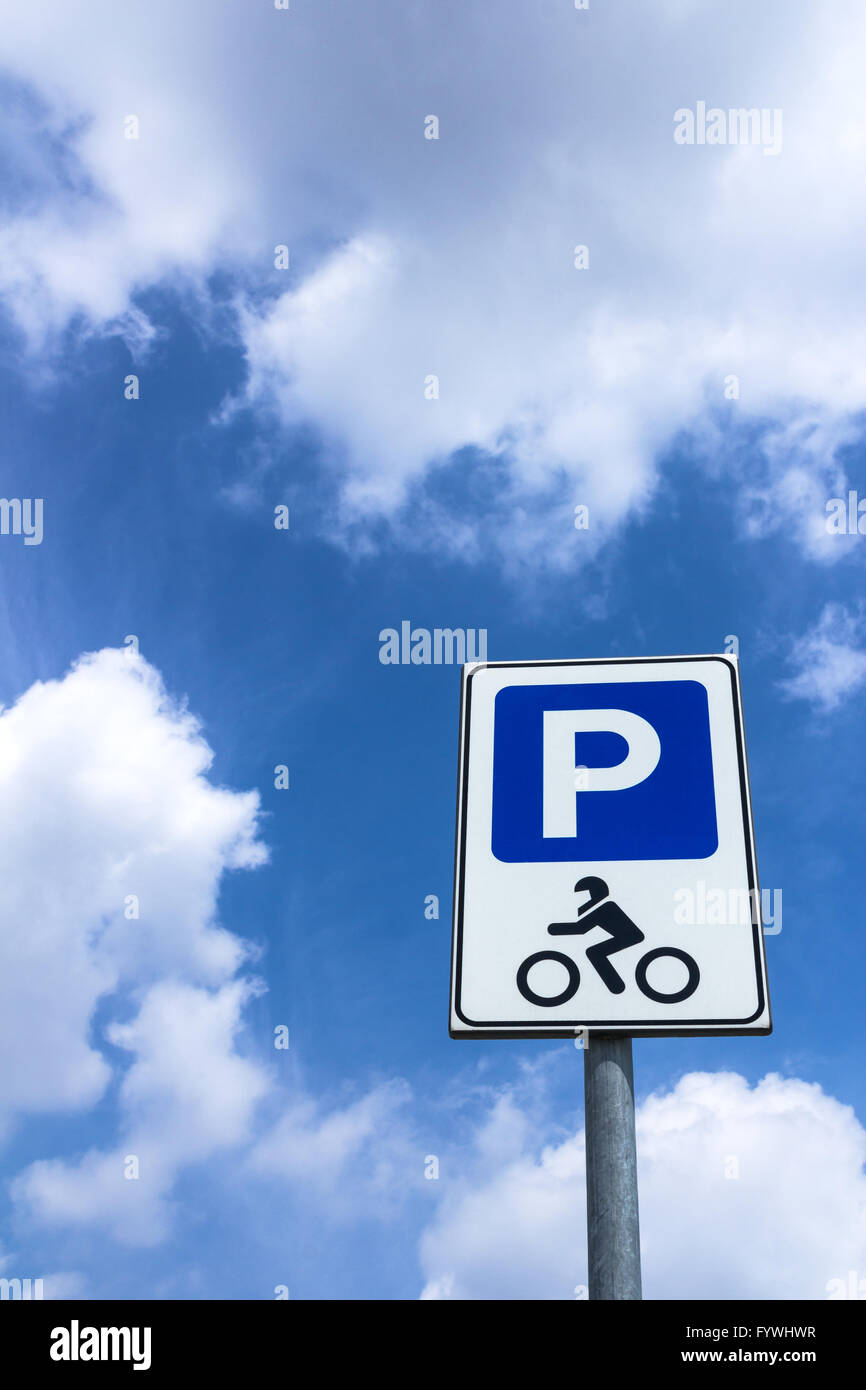 Parking motorcycles Stock Photo