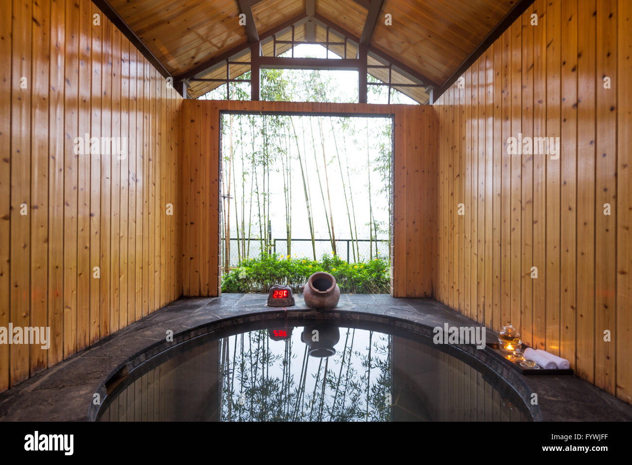 interior of hotspring for spas - Stock Image