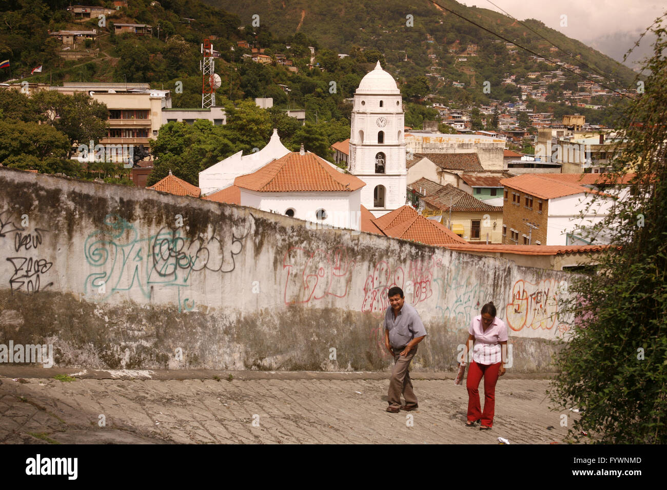SOUTH AMERICA VENEZUELA TRUJILLO TOWN - Stock Image