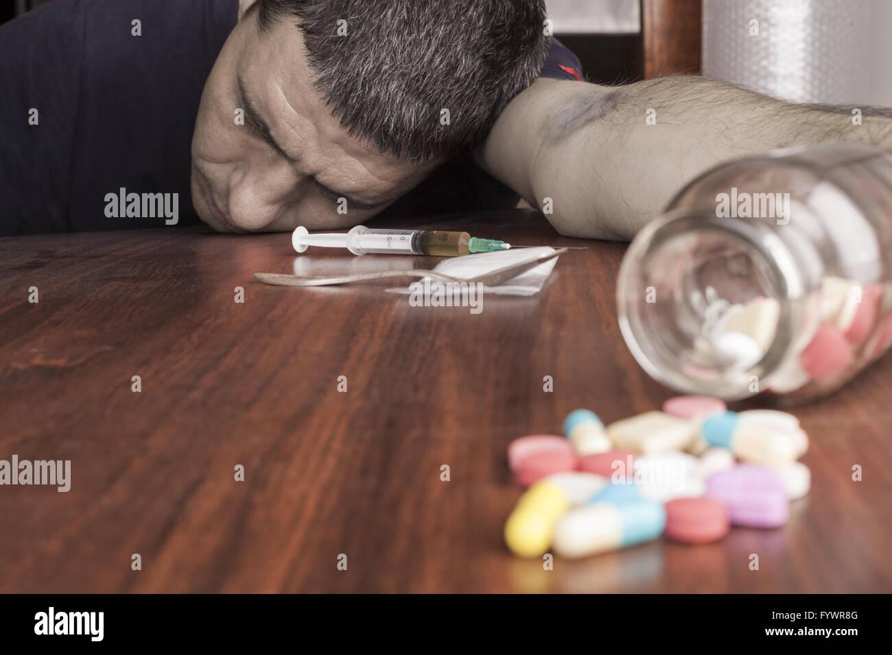 Overdose - Stock Image