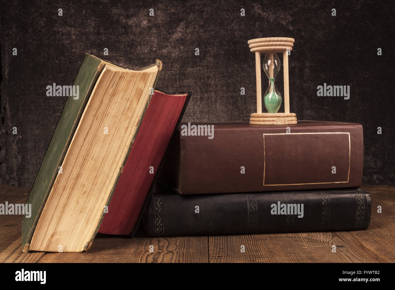 Old Books Time - Stock Image