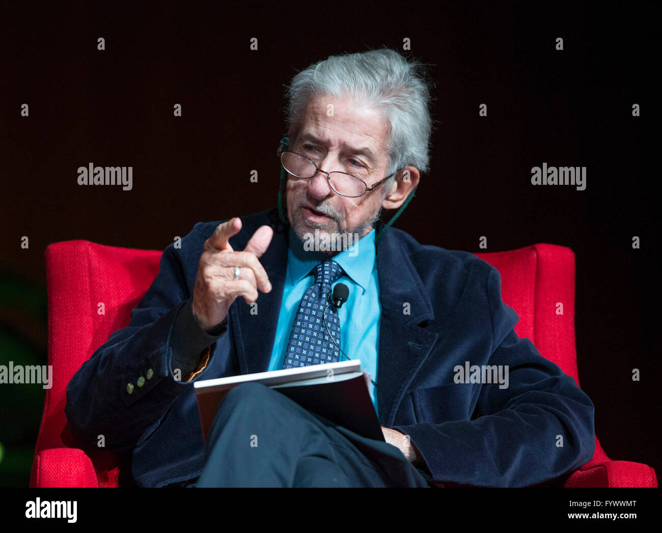 Former peace activist Tom Hayden speaks about the anti-war movement in the U.S. at the Vietnam War Summit at the - Stock Image