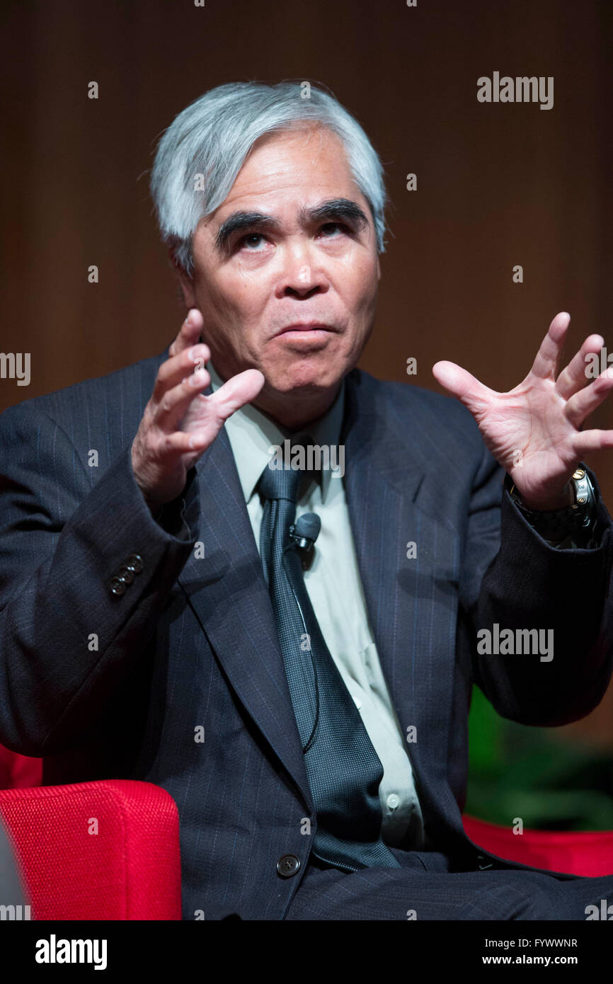 Pulitzer Prize-winning photographer Nick Ut speaks about his career and his photos from the Vietnam War at the LBJ - Stock Image