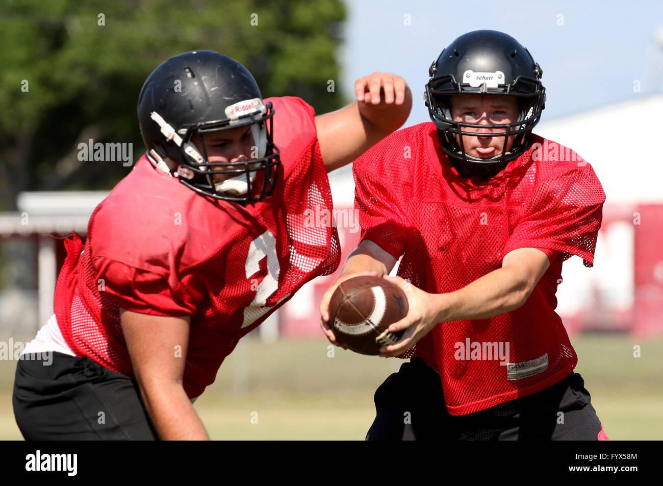 Dunedin, Florida, USA. 28th Apr, 2016. DOUGLAS R. CLIFFORD | Times.Dunedin Falcons head quarterback Tyler Palermiti - Stock Image