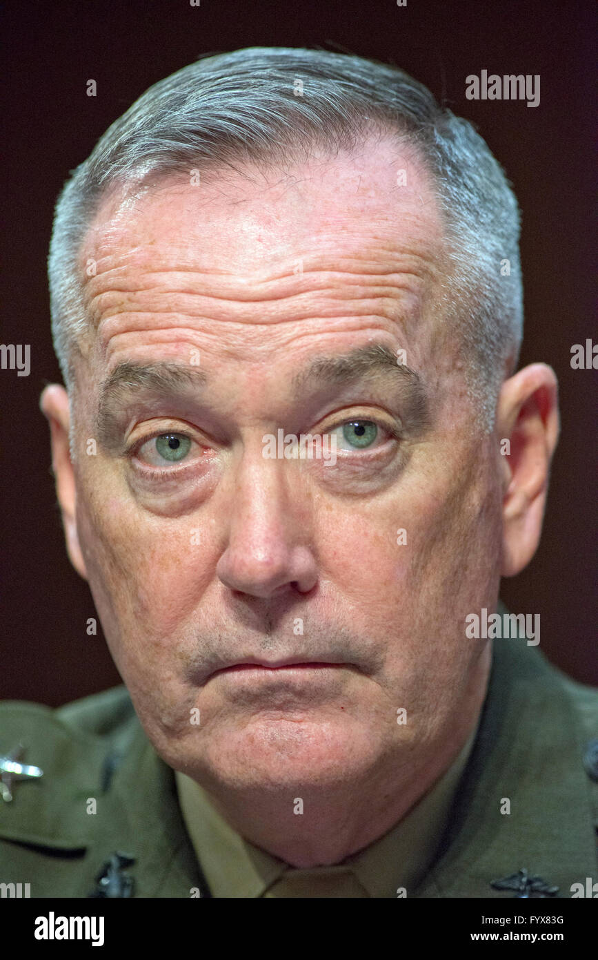 General Joseph F. Dunford, Jr., USMC, Chairman of The Joint Chiefs Of Staff, gives testimony before the United States Stock Photo