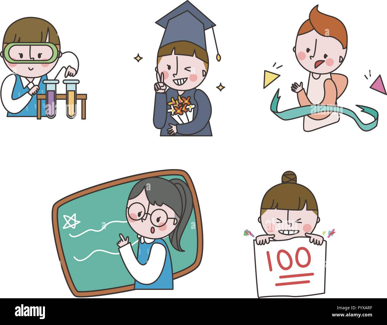 Job emoticons 002 - Stock Image