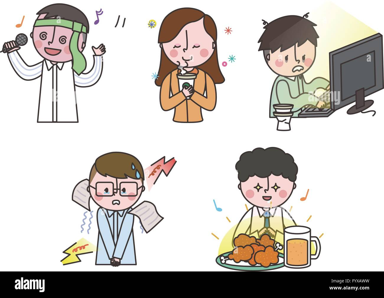 Job emoticons 010 - Stock Image