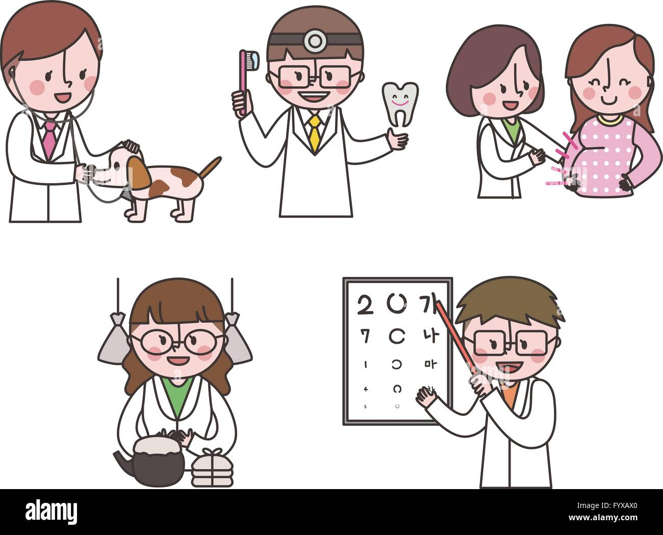 Job emoticons 012 - Stock Image