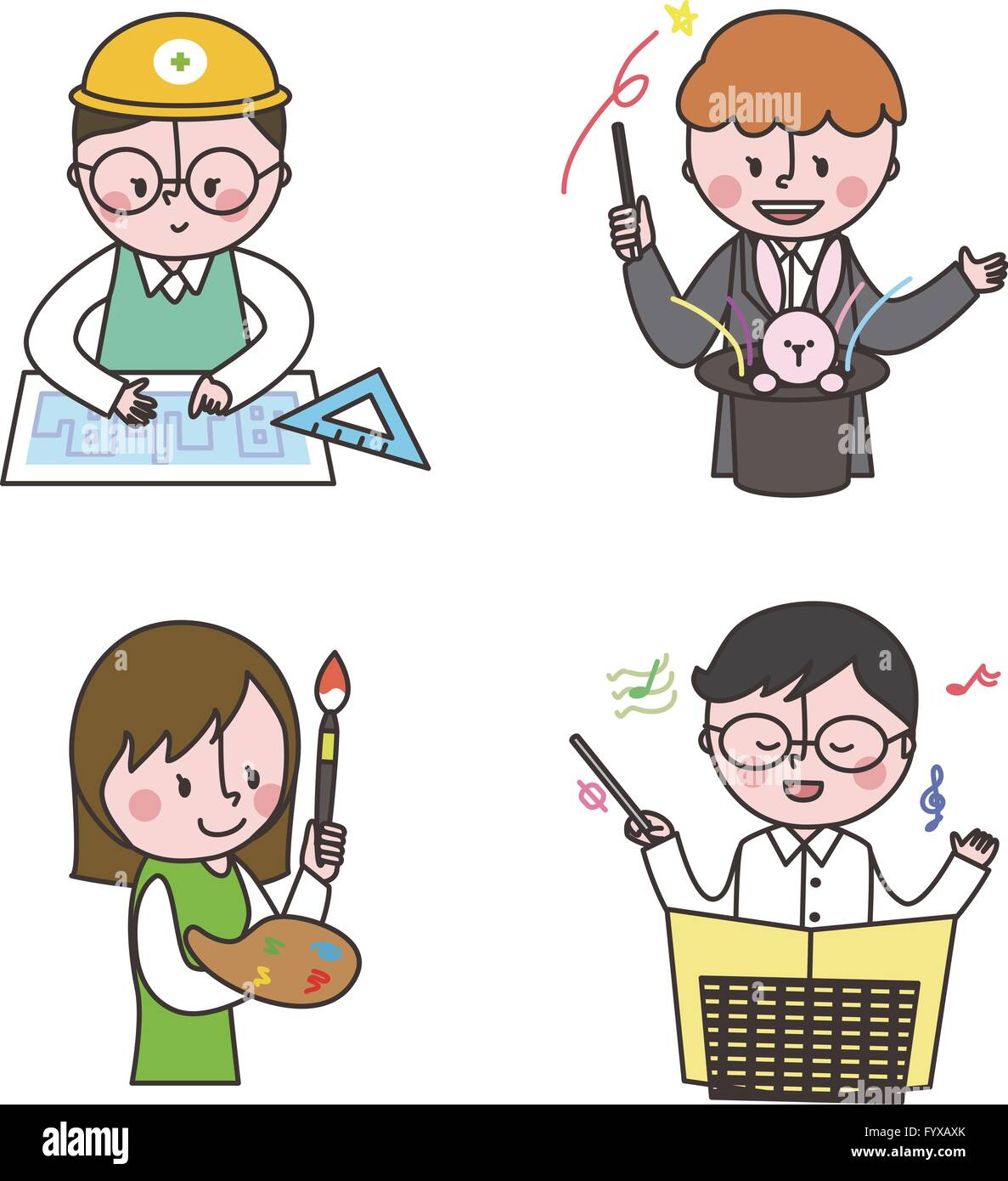 Job emoticons 017 - Stock Image