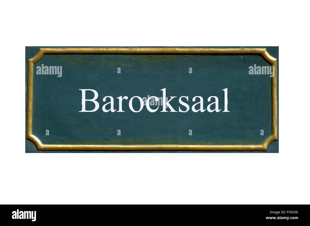 shield barock saloon Stock Photo