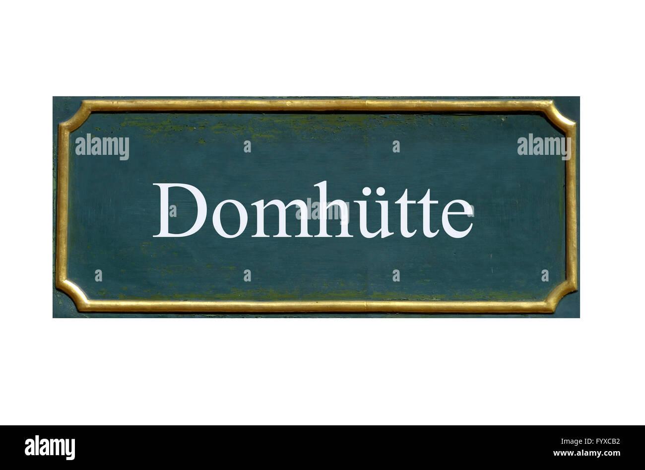 shield domhuette Stock Photo