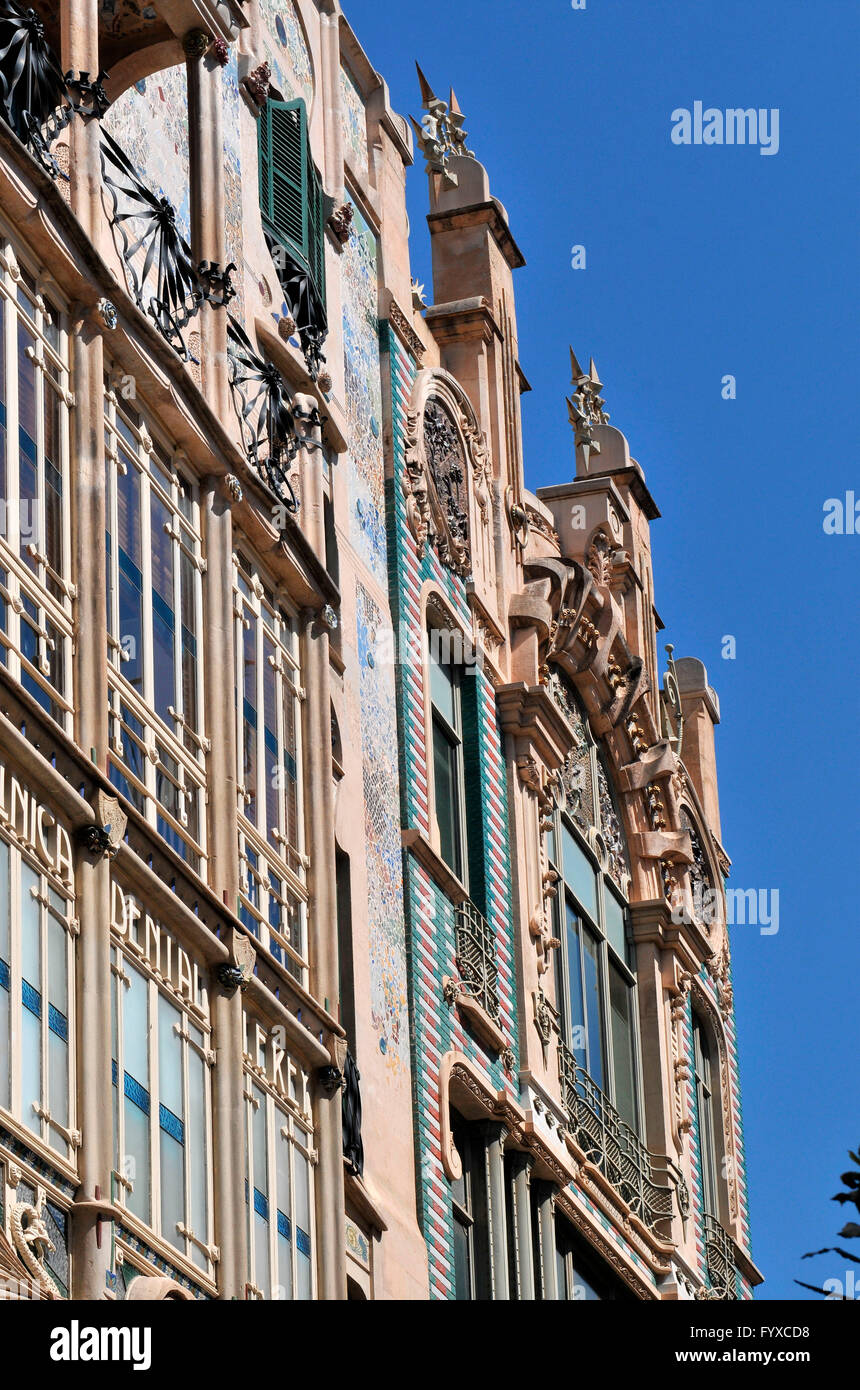 Department store El Aguila and Can Forteza Rei, Palma de Mallorca, Mallorca, Spain / art noveau - Stock Image