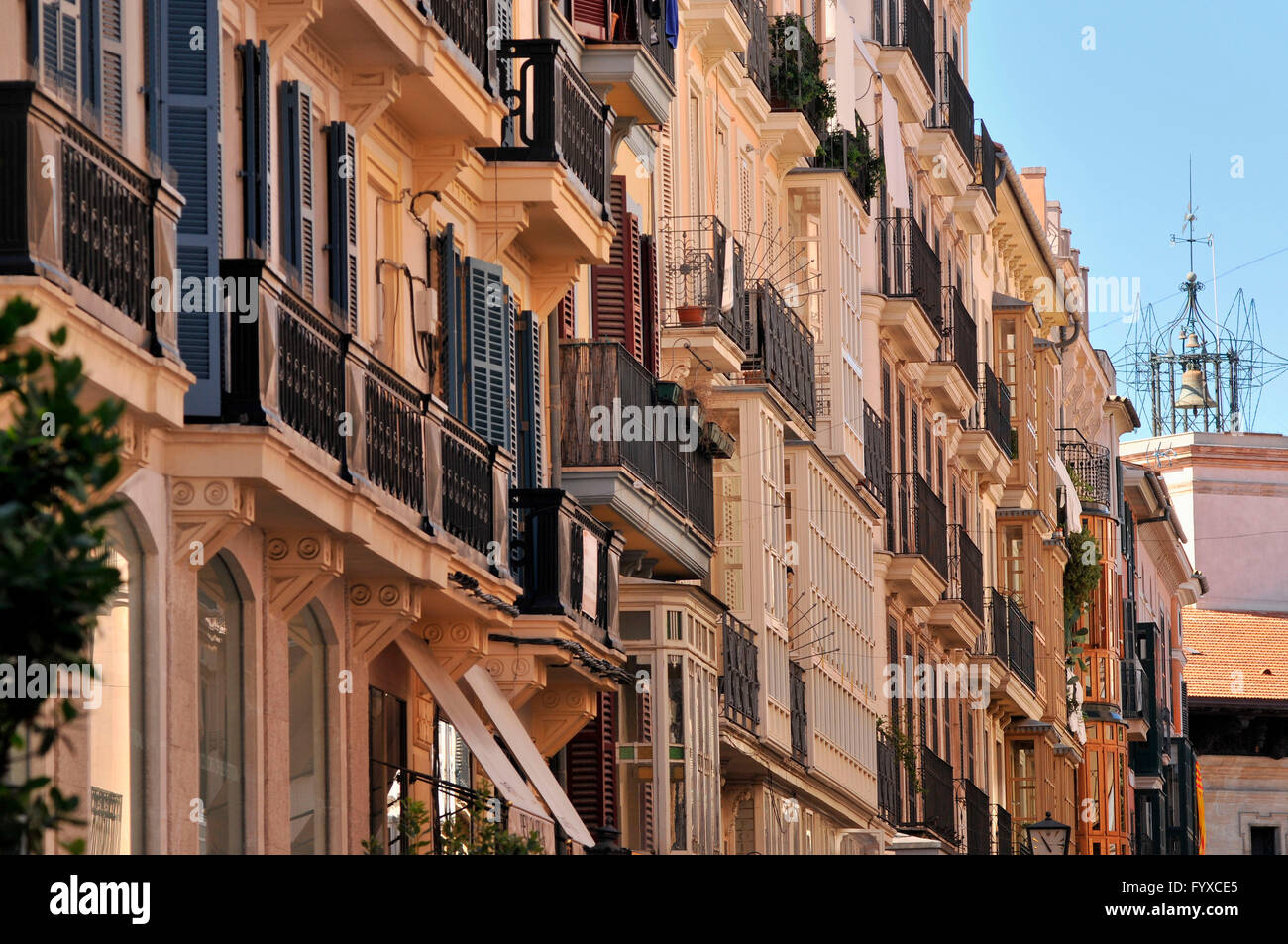 Old part of town, Palma de Mallorca, Mallorca, Spain - Stock Image