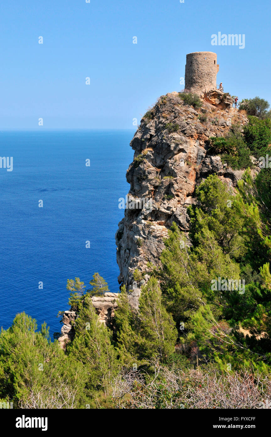 Mirador Torre del Verger, Mallorca, Spain - Stock Image