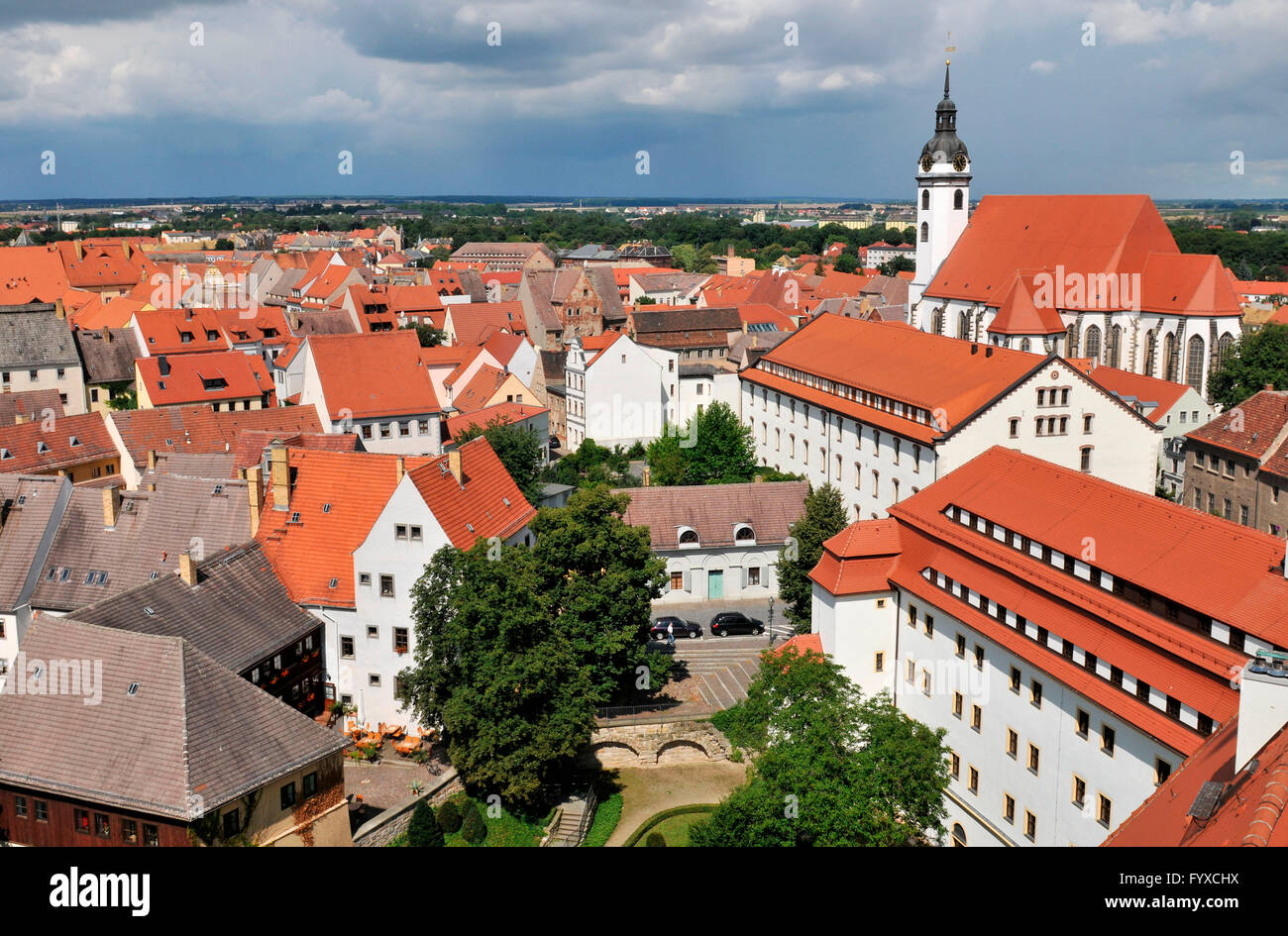 Old part of town, Torgau, Saxony, Germany Stock Photo