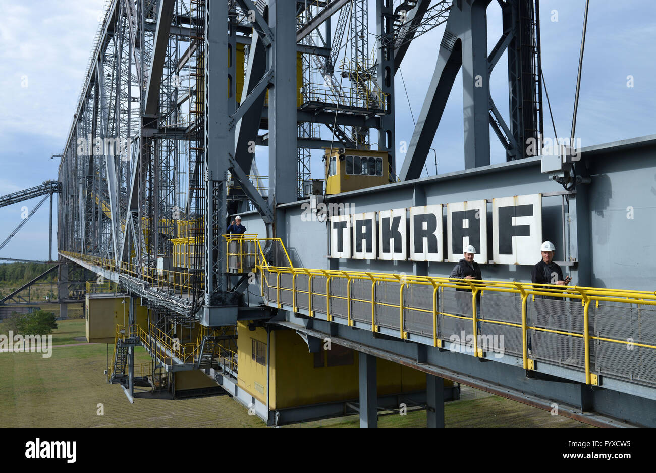 Overburden Conveyor Bridge F60, mine, Lichterfeld-Schacksdorf, Elbe-Elster, Brandenburg, Germany Stock Photo