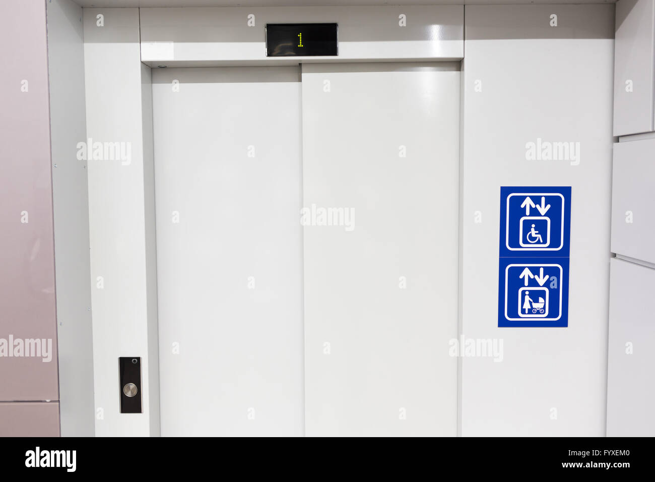 Elevator for mothers and physically disabled - Stock Image