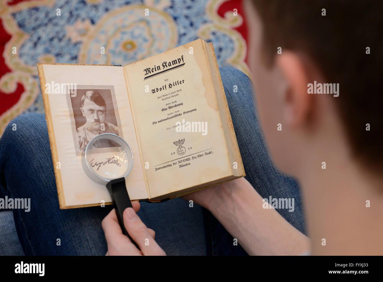 Buch, Adolf Hitler, Mein Kampf - Stock Image