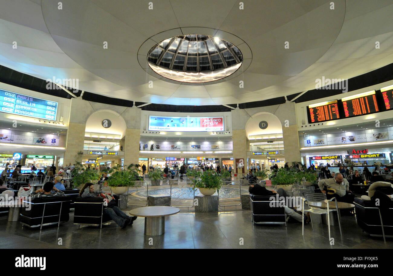 Waiting Hall Ben Gurion Airport Tel Aviv Jaffa Israel Stock Photo