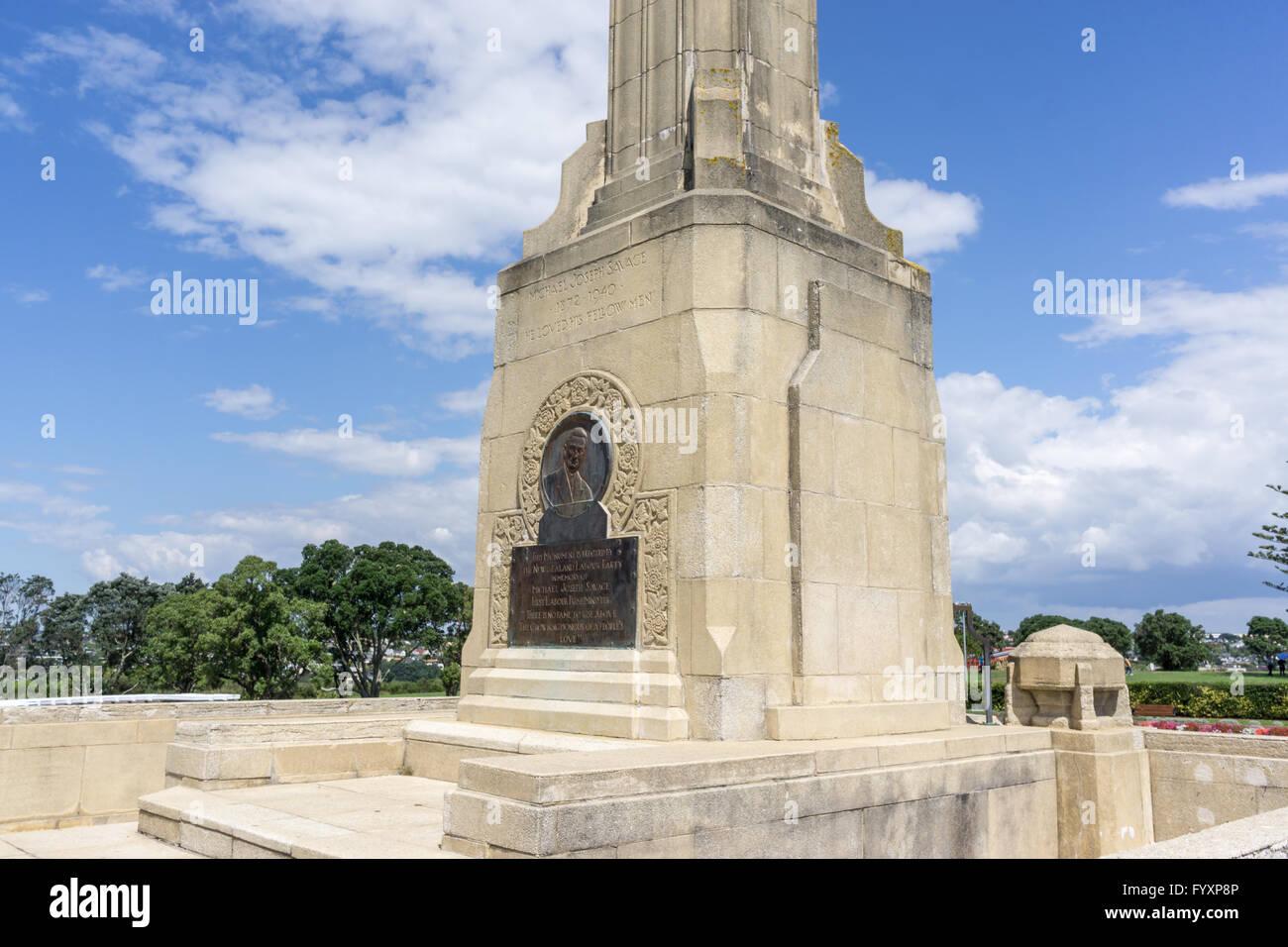 michael joseph savage mausoleum - Stock Image