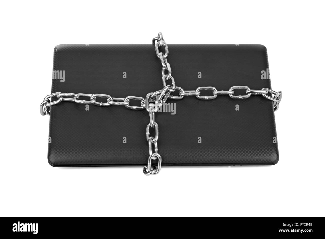 Notebook and chains - Stock Image