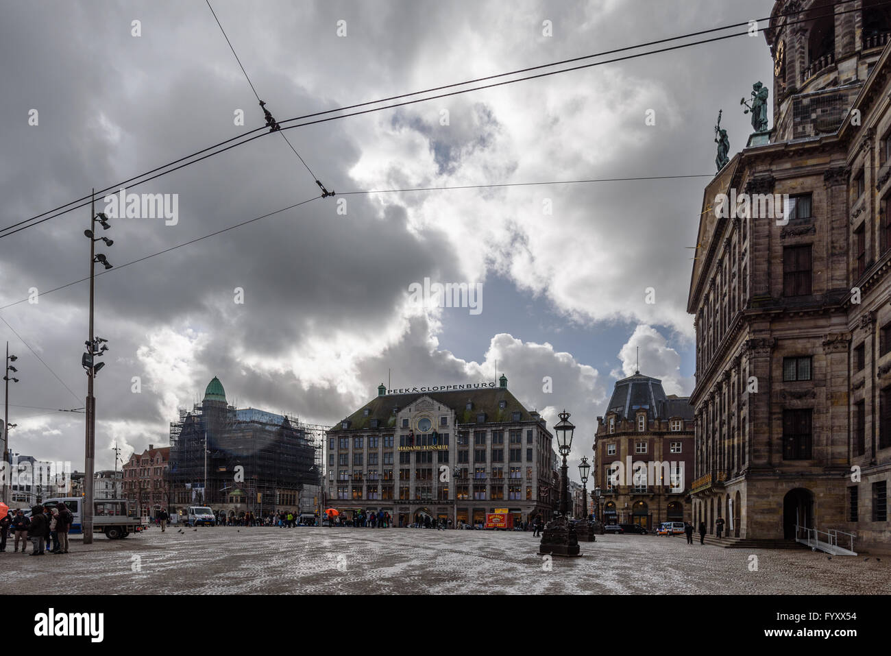 Madame Tussaud Amsterdam A popular tourist attraction, Madame Tussaud is located at the Dam square - Stock Image