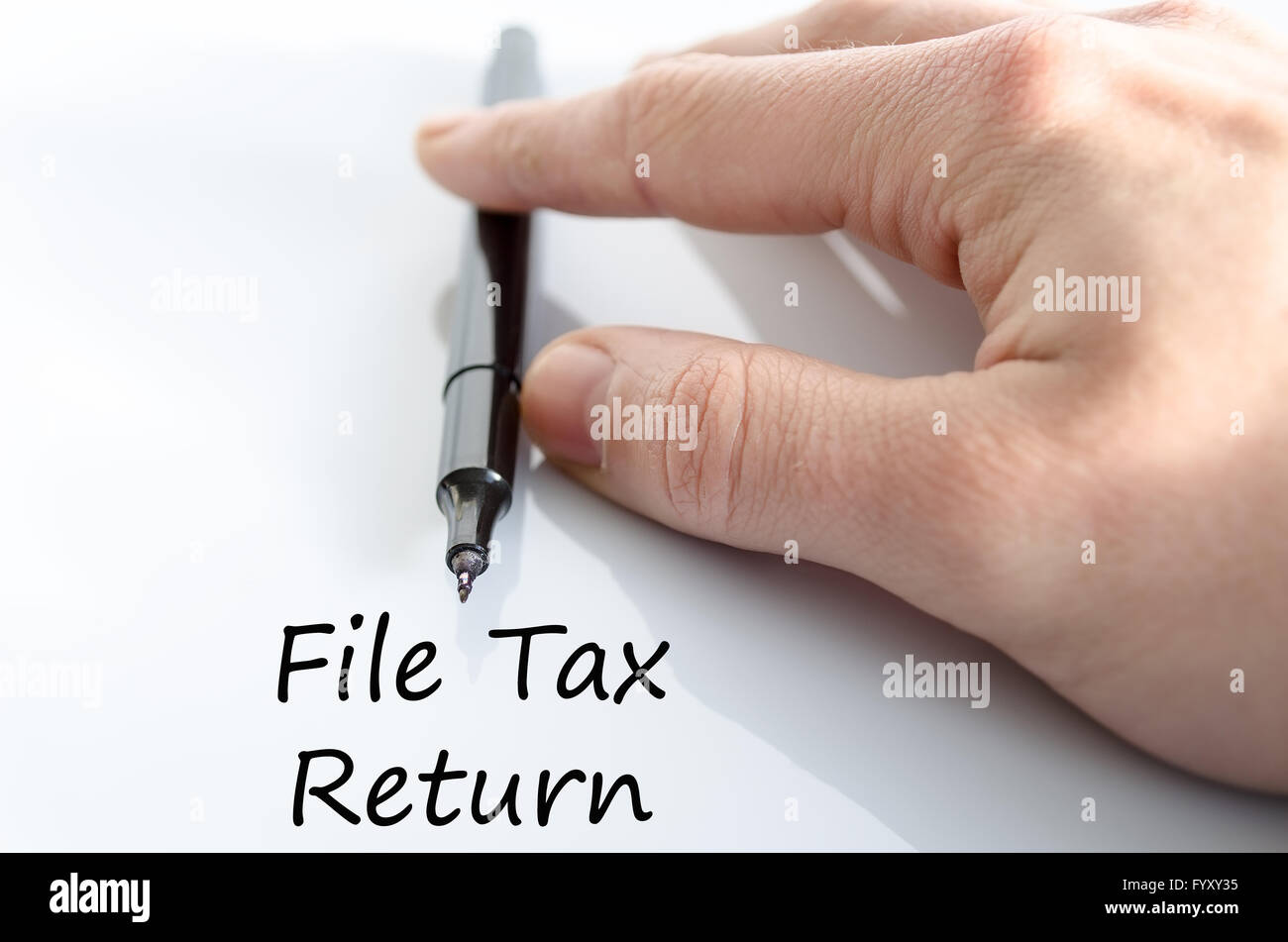 File tax return text concept - Stock Image