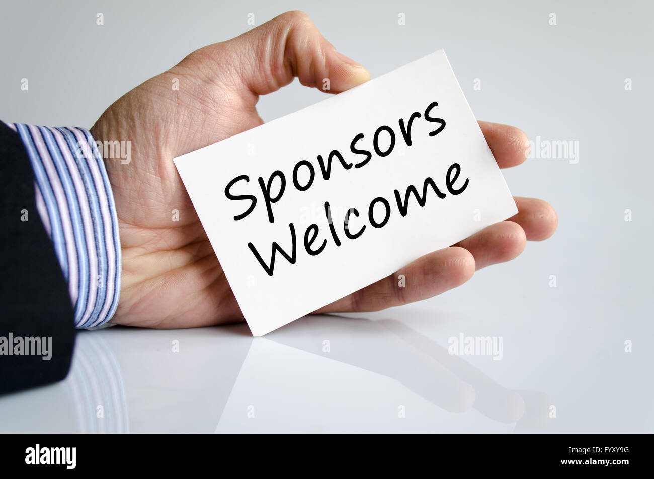 Sponsors welcome text concept - Stock Image