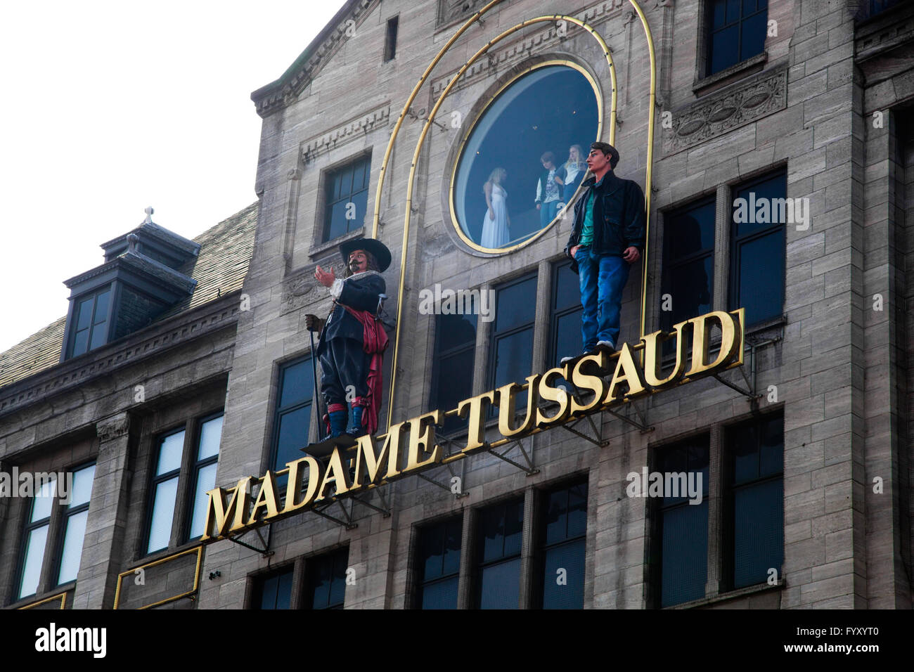 Madame Tussaud musem in Amsterdam - Stock Image