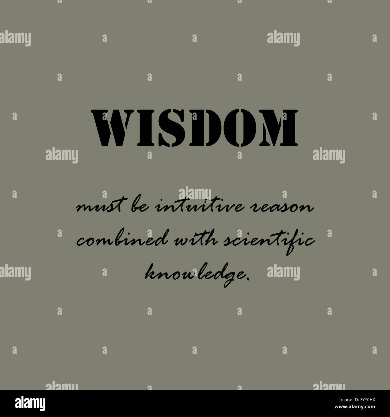 Aristotle Quotes. Wisdom must be intuitive Stock Vector Art ...