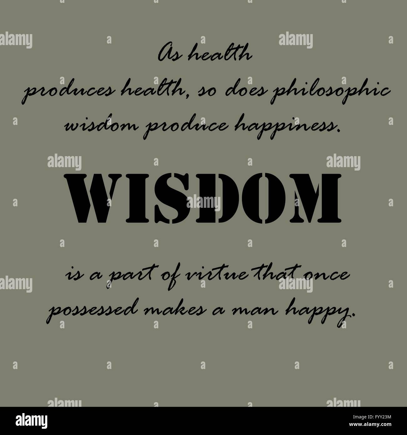 Aristotle Quotes. As Health Produces Health Stock Vector