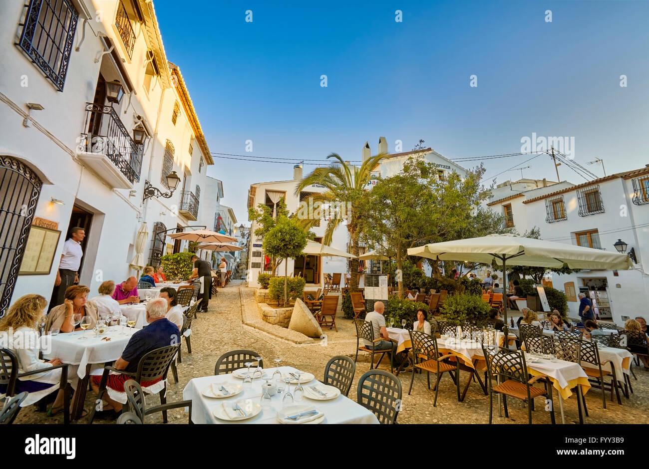Restaurants and terraces in altea alicante valencia - Stock uno alicante ...