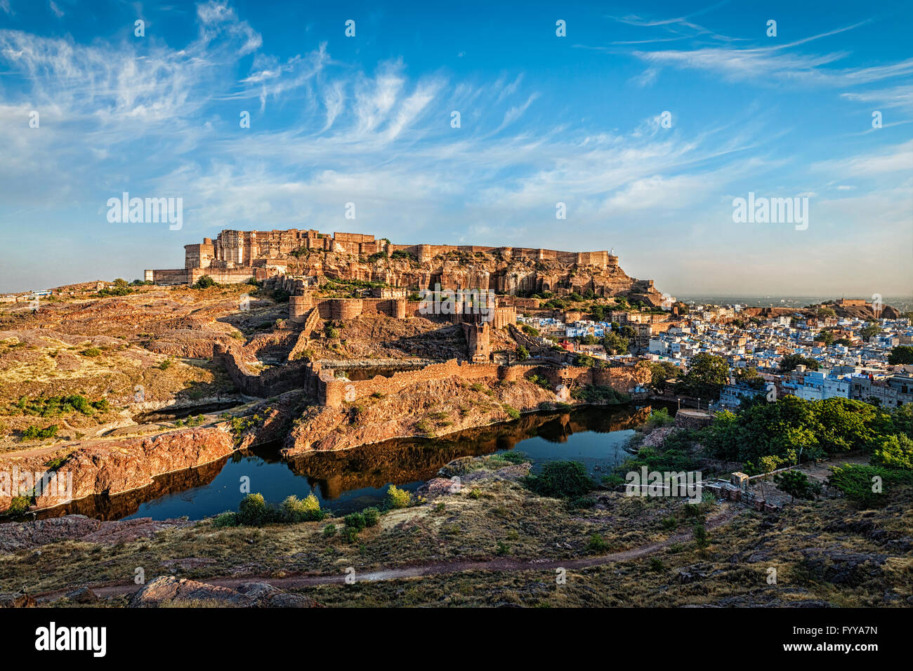 Mehrangarh Fort, Jodhpur, Rajasthan, India - Stock Image