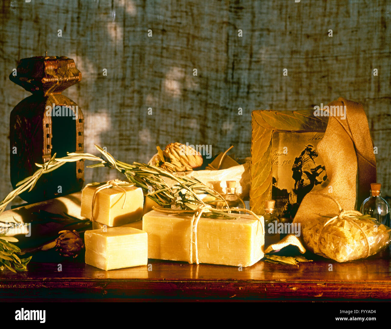 Large cheese board, inside. - Stock Image