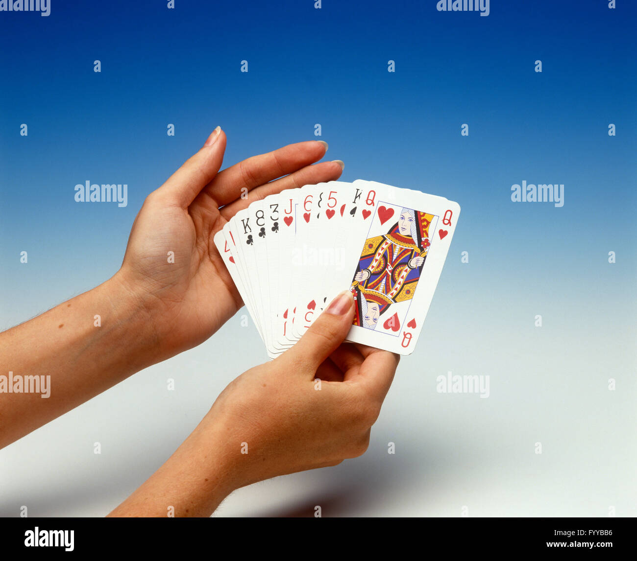 A deck of cards, inside. - Stock Image