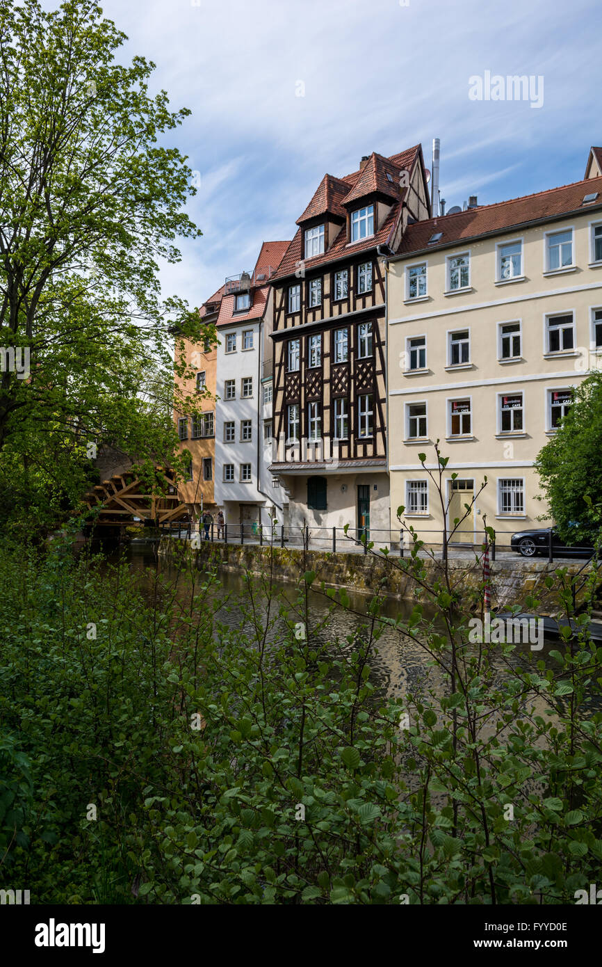 Am Kanal Street in Bamberg - Stock Image