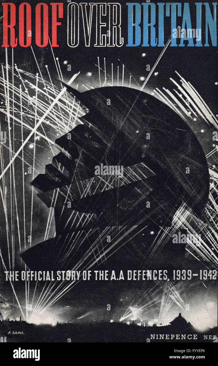 Abram Games iconic WW2 pamphlet cover image - Stock Image