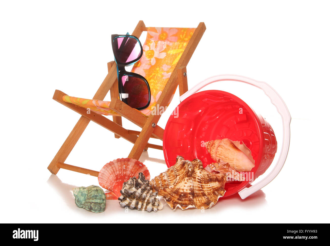 getting ready for summer holidays cutout - Stock Image