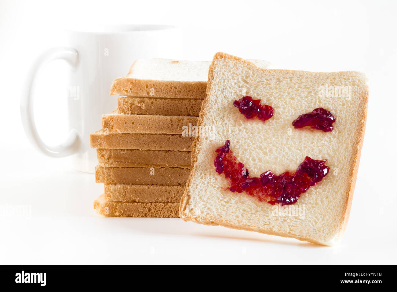 Smile at breakfast - Stock Image