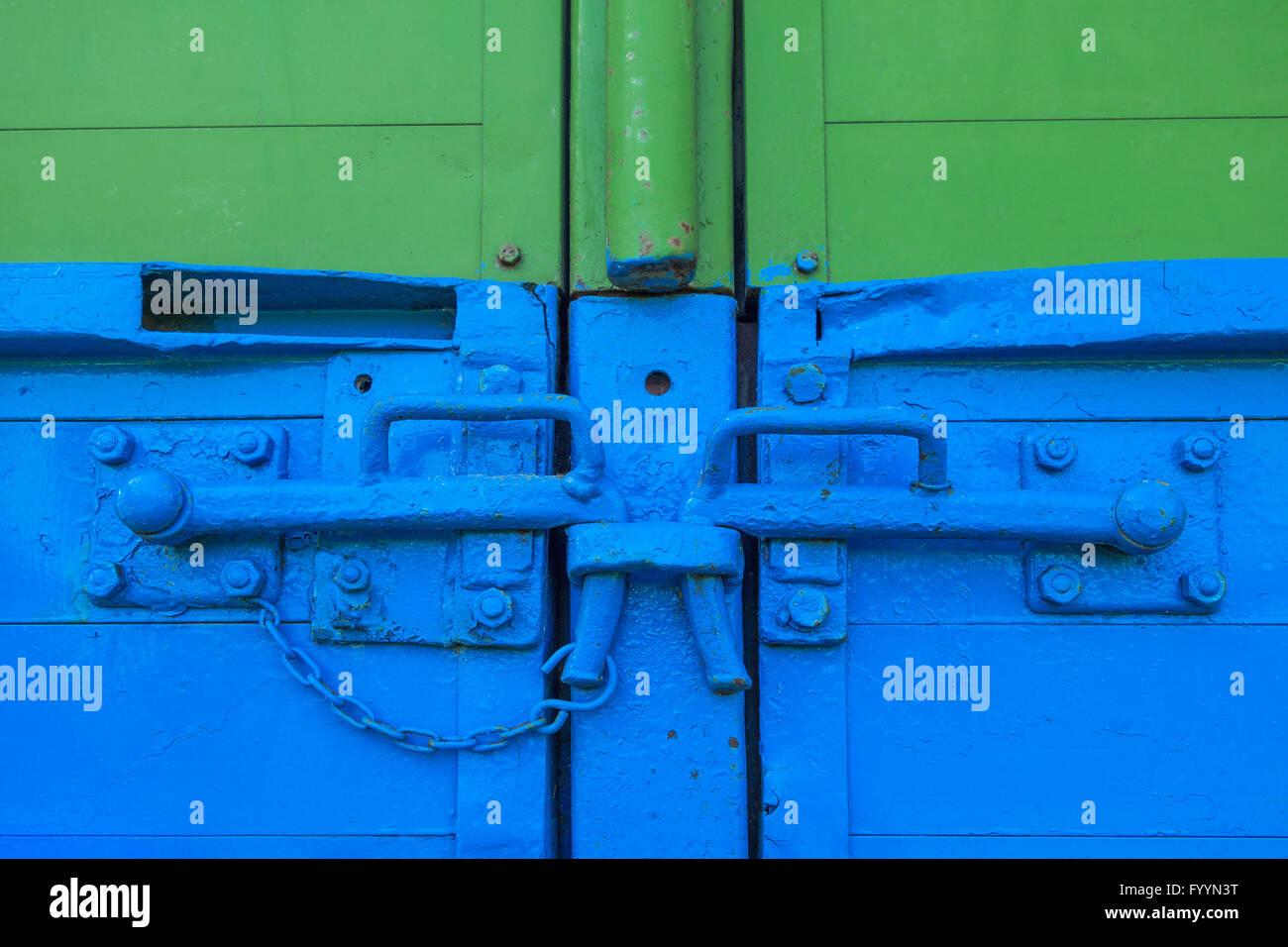 Clip-locks on a trailer - Stock Image