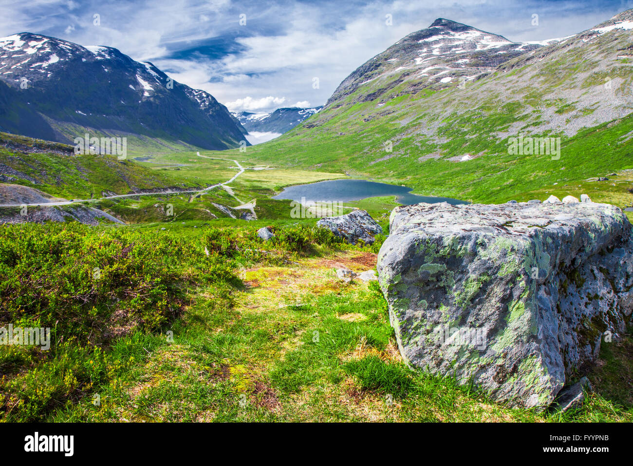 Trollstigen (Troll's road) Norway, Europe - Stock Image