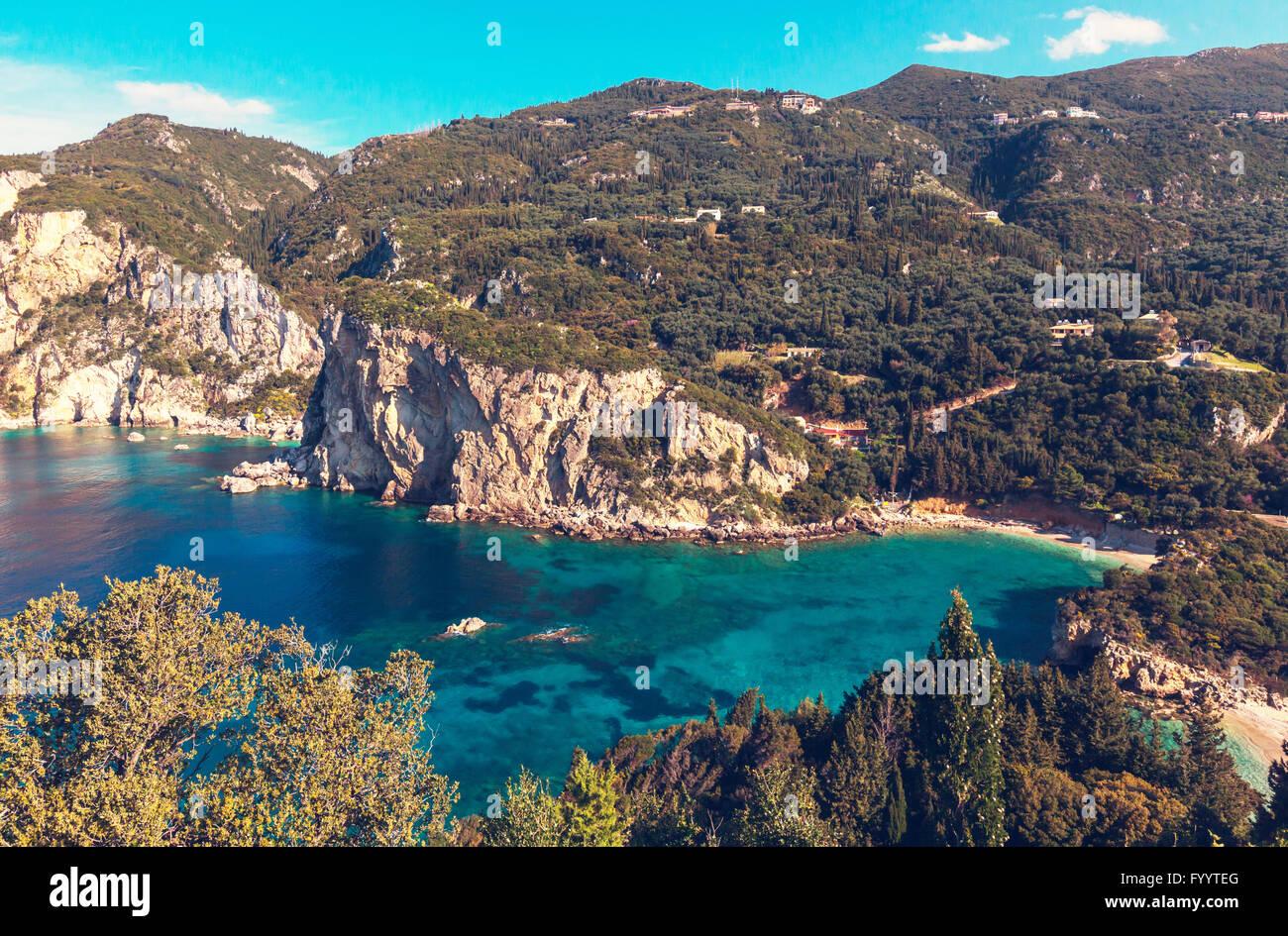Corfu coast - Stock Image