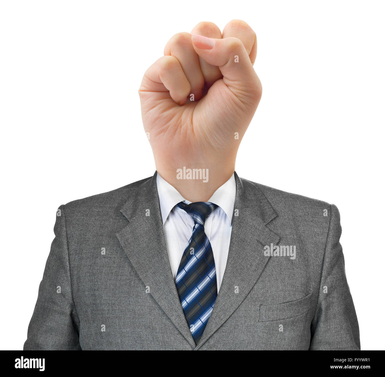 Fist for head - Stock Image