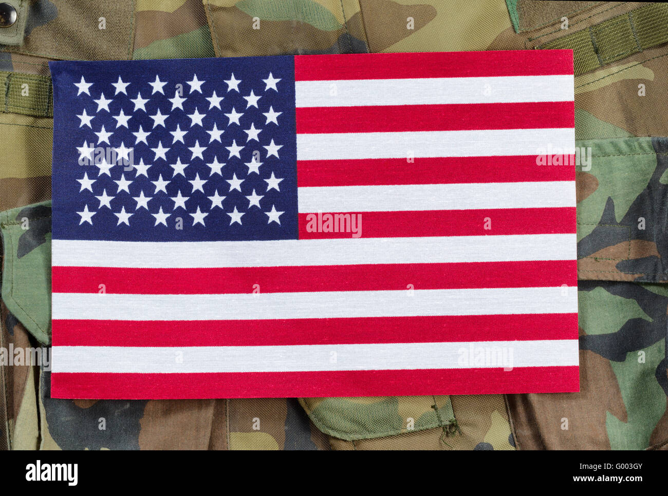 united states flag with military background