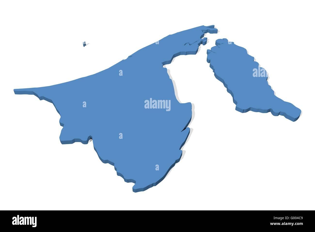 Brunei Map Stock Photo 103265689 Alamy