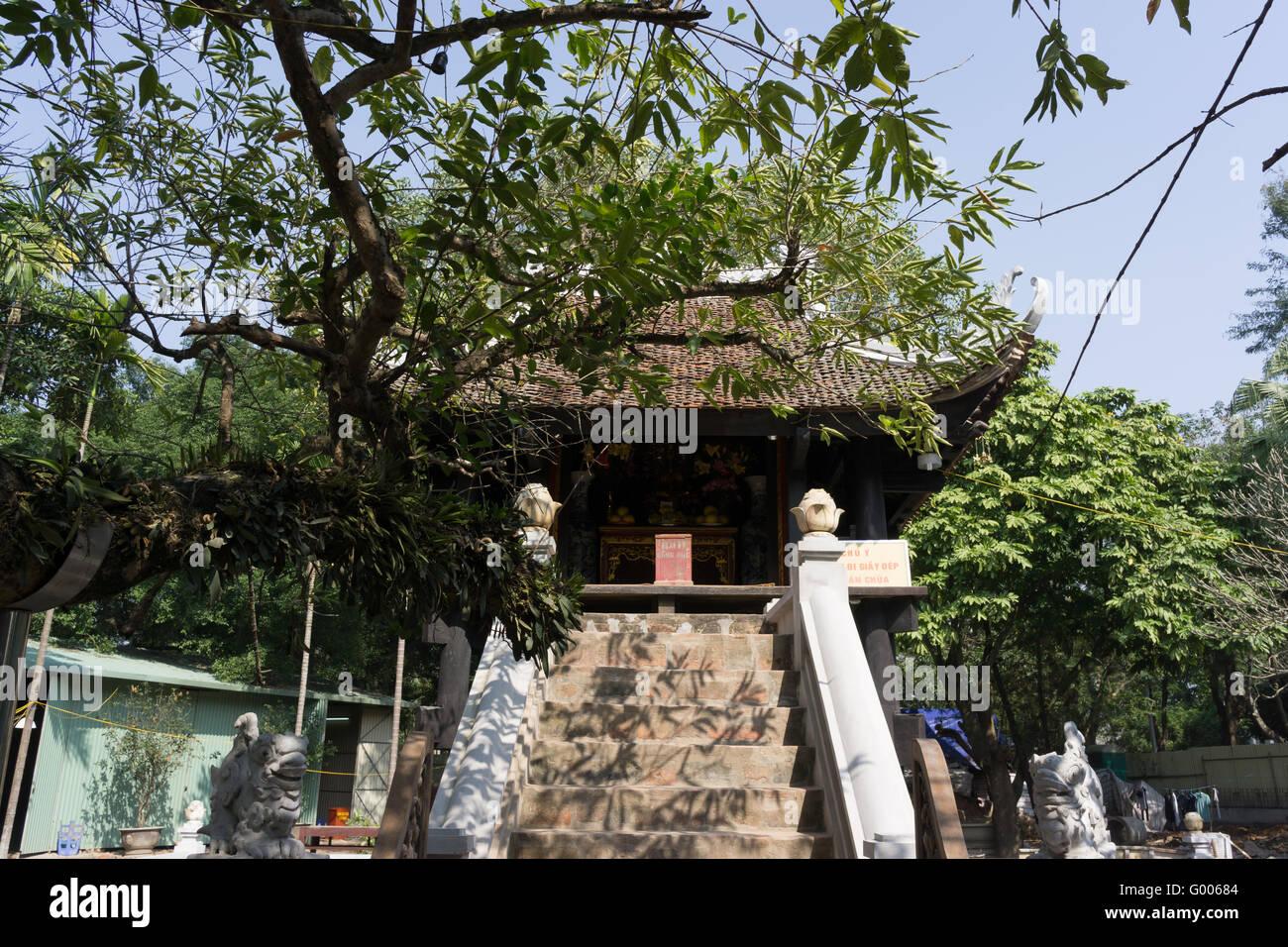 One Pillar Pagoda Stock Photo