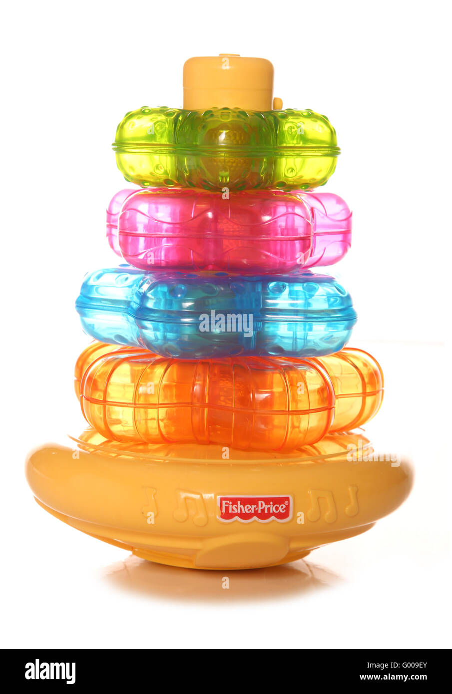Fisher price light up stacker toy cutout - Stock Image