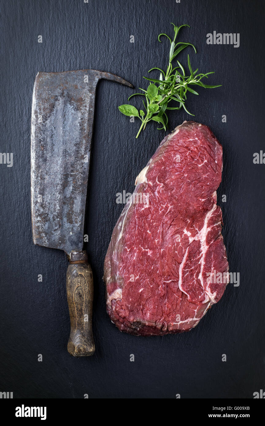 Bottom Round Steak - Stock Image